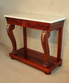A (small model) Empire mahogany console table - The Netherlands - circa 1810/1820