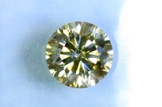 Fancy INTENSE Yellowish GREEN - 1.16 ct - SI2 - Excellent Cut - * NO RESERVE PRICE *