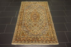Oriental carpet, Indo Bidjar Herati, 120 x 190 cm, made in India at the end of the last century
