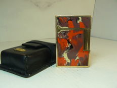 Rare gold plated Dupont lighter Gatsby line (Chinese lacquer, Picasso art)