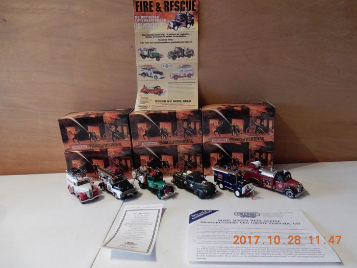 Matchbox - Scale 1/43 - Lot with 6 models: YFE 25 t/m YFE 30 - Brandweer  Fire and Rescue Collection series 5