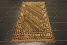 Collector's item, handwoven Persian carpet, striped, Qashqai, nomad carpet, wool on wool, made in Iran, 110 x 200 cm