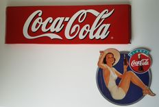 Metal Coca-Cola advertising sign + 'Always' advertising sign