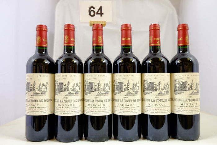 2005 Chateau La Tour de Mons, Margaux Cru Bourgeois Superieur, France - 6 Bottles.