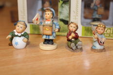 Rodenthal - 4 As New Miniature Hummel Figurines in the Original Box