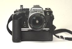 NiKon FE camera with Nikon MD-12 motor and Nikkor lens 28 mm / f 1 : 3.5
