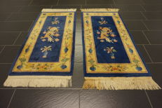 Schöner Handgetufter China Art Deco Teppich  Made in China Set 2X 145X70cm  Carpet Tappeto Tapis Tapijt