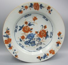 Antique porcelain Imari plate - China - mid 18th century