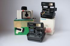 Polaroid cameras Spirit 660cl, land camera swinger and close up 636