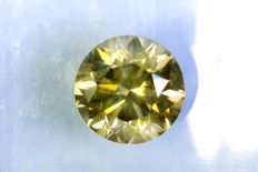Fancy DEEP Greenish Yellow - 1.02 ct - SI1 - * NO RESERVE PRICE *