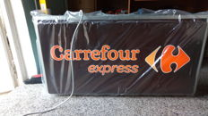 2 Illuminated signs of Carrefour