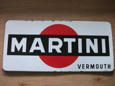 Enamel advertising sign MARTINI Vermouth Langcat Bussum - ca. 1960 - 2nd half 20th century