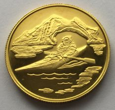 Canada – 100 Dollars 1980 'Inuk in a kayak' – ½ oz gold