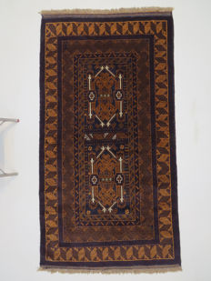 Beautiful Persian carpet, Baluch, Iran, 198 x 108 cm, end of the 20th century, recently cleaned and in very good condition