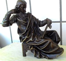 Philosopher Blaise Pascal in bronze - France - late 1800s
