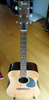 Fender F-35 acoustic guitar with K&K Pure Mini pickup, early 1970s, 1st owner