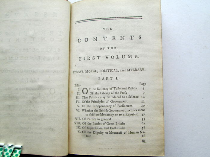 essays and treatises on several subjects by david hume Book digitized by google from the library of the university of michigan and uploaded to the internet archive by user tpb.