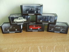Minichamps - Scale 1/43 - Lot with 6 Ford models: Torino, Cortina, Mustang, Thunderbird & Taunus