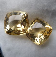 Citrine Matching Pair – 30.64 ct Total – No Reserve Price