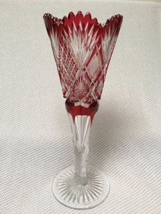 Val Saint Lambert - beautiful large chalice vase - Belgium - 20th century
