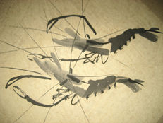 Hand painted album of shrimps by Qi Baishi《齐白石虾画集》- China - 2nd half of the 20th century