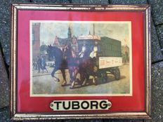 Tuborg advertising with seal 1974