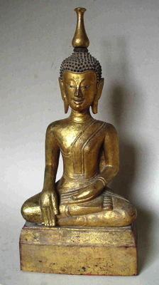 Large antique Buddha (54,5 cm) - Northern Thailand / Laos - 19th century