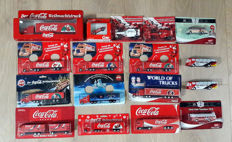 Coca-Cola lot with 17 rare advertising trucks, Christmas trucks, buses, passenger cars, race cars