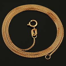 18 Kt Rose (Pink) Gold Chain 45 cm