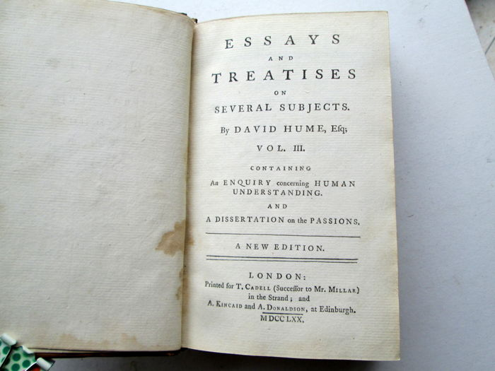 hume essays and treatises on several subjects Essays and treatises on several subjects david hume essays and treatises on several subjects, in two volumes , get this from a library.