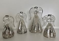 4 handmade Venetian glass Christmas angels