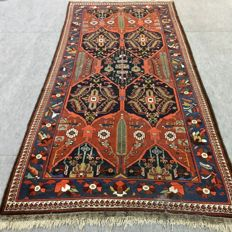 Antique collector's carpet!! Approx. 100 years old Lori-Bakhtiar carpet, 350 x 258 cm, circa 1920