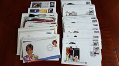 British Commonwealth Elisabeth II - collection of 97 covers Lady Diana