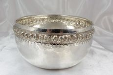 Silver bowl, hammered, Asia