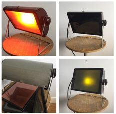 Unknown designer - Industrial light with coloured glass plates, in the original box
