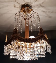 Crystal Chandelier 2nd Half 20th Century
