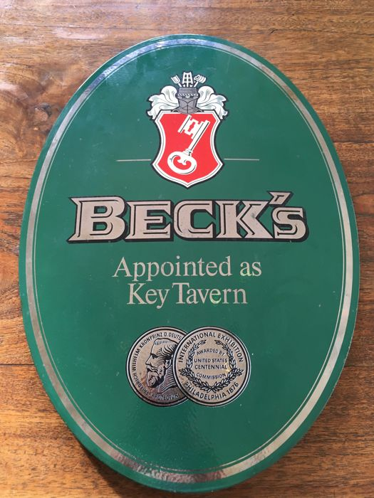 Beck's bier Emaille Reclamebord