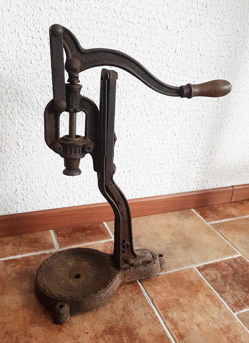 Antique French Wine Bottle Corking Machine +/- 1900 France