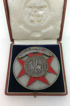 Templar knights order - Great Freemasonry enamelled medal