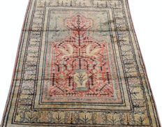 Beautiful And Antique Turkish Kesary Silk Hand Knotted  Carpet Rug 127 cm x 91 cm
