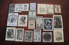 Ex-libris; Small collection of 73 medical ex-libris by various artists - c. 1900 / 1960