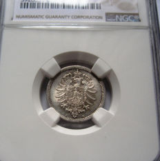 Germany - 50 Pfennig 1875 A - silver