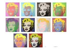 Andy Warhol (after) - Marilyn Monroe set of screen prnits