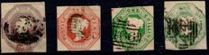 Great Britain 1847 – Stanley Gibbons 55, 57 and 58