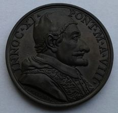 "Papal State - Medal, 1684 - Year VIII, Innocent XI (1676-1689) ""Fourfold Alliance Against the Turks"""