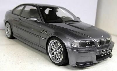 Otto Mobile Scale 118 Bmw M3 E46 Csl Grey Metallic Limited