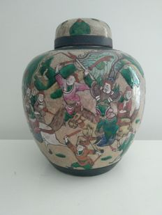 Rare Nanking ginger pot - China - 19th century