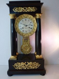 French column clock - signed Fatoux Paris - 1860 period