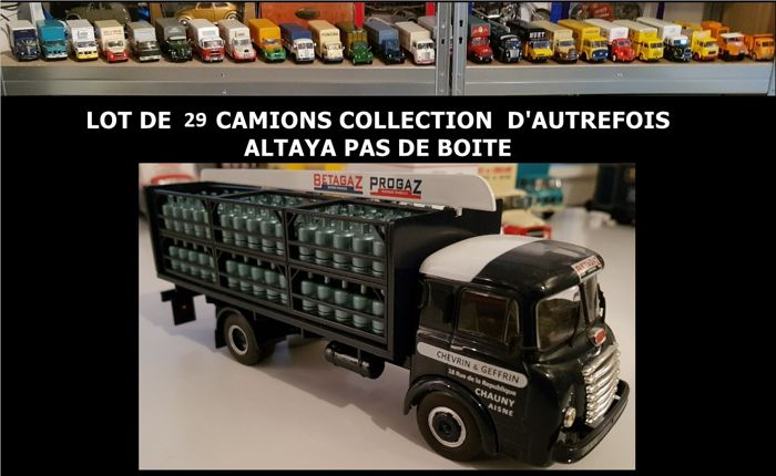 Altaya - Scale 1/43 - Lot of 29 trucks ´La Collection d'autrefois´