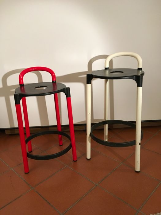 Anna Castelli Ferrieri for Kartell - 2 'Polo' stools